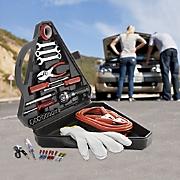 33 pc  roadside emergency kit