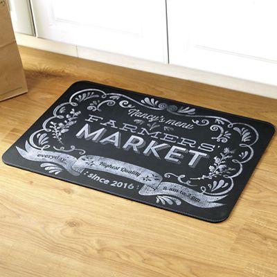 Personalized Farmers Market Floor Mat