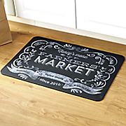 personalized farmers market floor mat