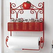 apple paper towel holder with tear bar   spice rack