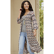 Chevron Sweater Duster