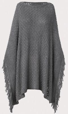 Basket Weave Sweater Poncho