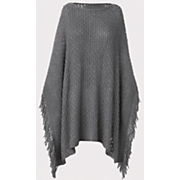 basket weave sweater poncho