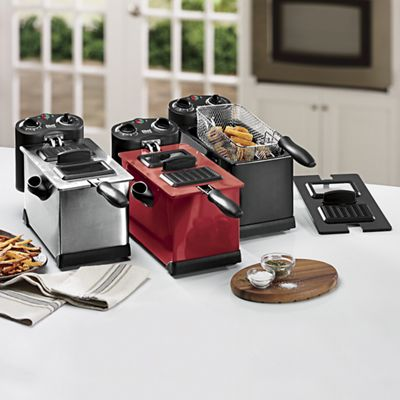 Chef Tested 3.5-Qt. Fryer with Timer by Montgomery Ward and Set of 3 Deep Fryer Filters