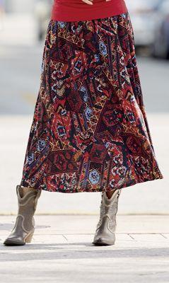 Aztec Knit Skirt