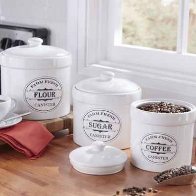 Set of 3 Farm Fresh Canisters