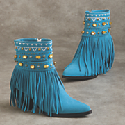 carrie fringe bootie