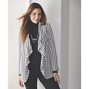 houndstooth knit jacket