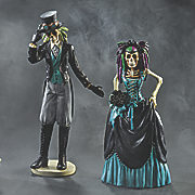 groom and catrina bride day of the dead figurines