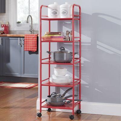 5-Shelf Mobile Utility Cart