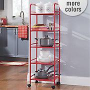 5 shelf mobile utility cart