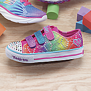 twinkle toes shuffles rainbow madness by skechers
