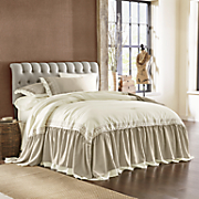heirloom opulence embroidered bedspread  sham and panel pair