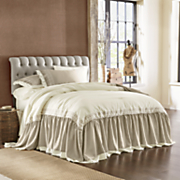 Heirloom Opulence Embroidered Bedspread, Sham and Panel Pair