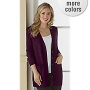 freshica button front long cardigan by montgomery ward