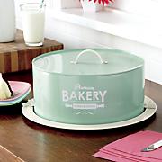 ginny s brand retro covered cake plate