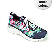 women s floral fashion fit athletic shoe by skechers