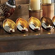 leaf quintet candleholder