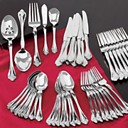 45 pc  boutonniere flatware set by oneida