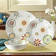 12-Piece Floral Melamine Dinnerware Set