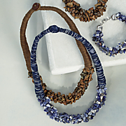 gemstone nugget wrap necklace