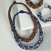 Gemstone-Nugget Wrap Necklace