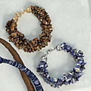 gemstone nugget wrap bracelet
