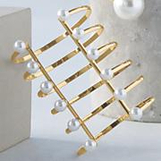 faux pearl wire cuff