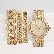 Crystal Accent Watch/Bracelet Set