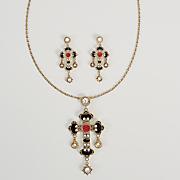 Cross Necklace/Earring Set