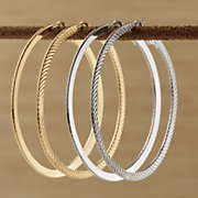 2 pair large hoop set