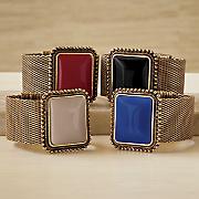 faux stone mesh bracelet