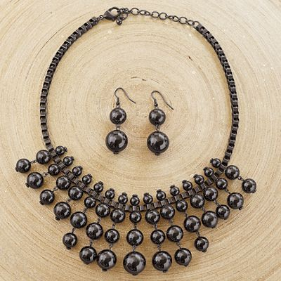 Ball/Drop Necklace/Earring Set