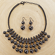 Ball/Drop Necklace/Earring Set