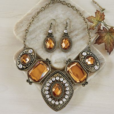 Crystal Necklace/Earring Set