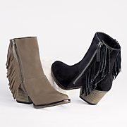 nova side fringe bootie by mia