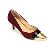 Penelope Gold Tipped Heel by Monroe and Main