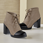 Colorblock Tie Bootie by Monroe and Main
