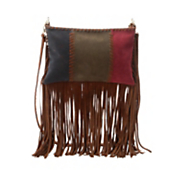 3 color fringe cross body