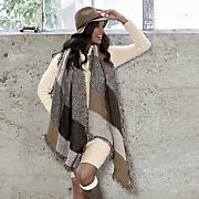tweed plaid wrap