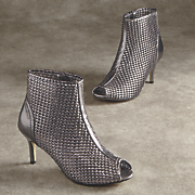 ely woven cage bootie