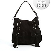 pocket front tassel hobo