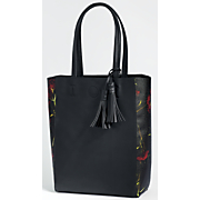 Floral Side Panel Tote