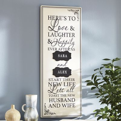 Personalized Marriage Wall Plaque