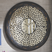 decorative scroll wall clock