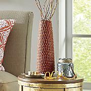 orange textured vase