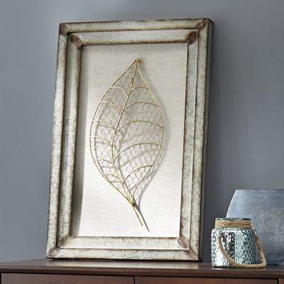 Galvanized Leaf Art