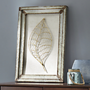 Galvanized Leaf Art