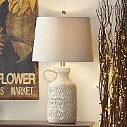 Ivory Embossed Lamp