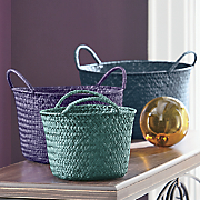 set of 3 jewel tone baskets